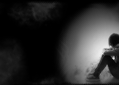 lonely, grayscale, monochrome - related desktop wallpaper