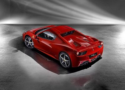 cars, studio, Ferrari, vehicles, Ferrari 458 Italia, Ferrari 458 Spider - related desktop wallpaper