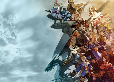 Final Fantasy, video games, Final Fantasy Tactics: The War of the Lions, artwork, Agrias Oaks - desktop wallpaper