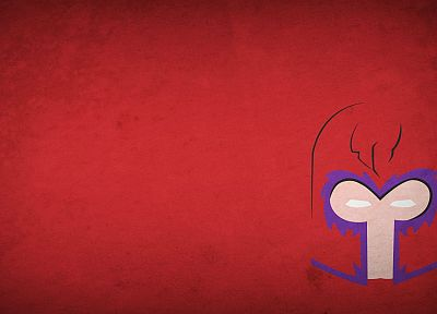 minimalistic, Magneto, Marvel Comics, red background, villians, blo0p - random desktop wallpaper