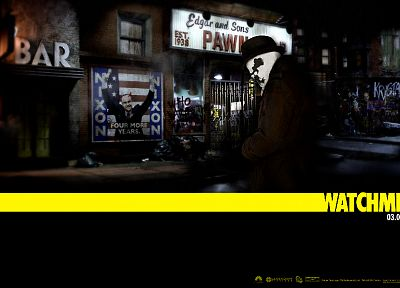 Watchmen, movies, Rorschach, graffiti, Richard Nixon - random desktop wallpaper