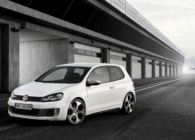 cars, Volkswagen, Volkswagen Golf VI, front angle view - random desktop wallpaper