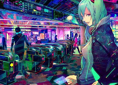 Vocaloid, multicolor, Hatsune Miku - random desktop wallpaper