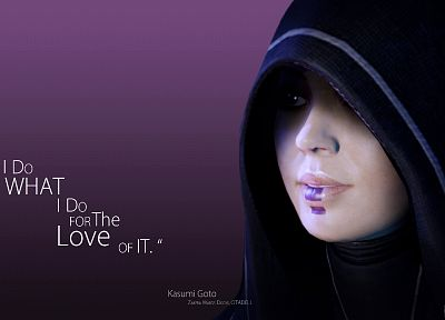 quotes, Kasumi, Mass Effect - random desktop wallpaper