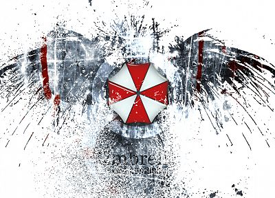 video games, movies, Resident Evil, eagles, Umbrella Corp., logos - related desktop wallpaper