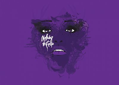 typography, faces, JThree Concepts, purple background, Jared Nickerson - related desktop wallpaper