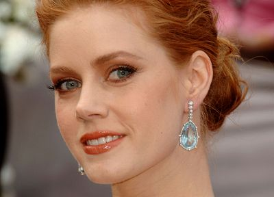 women, actress, redheads, Amy Adams, earrings - desktop wallpaper