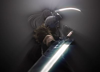 Final Fantasy VII Advent Children, Sephiroth, Cloud Strife - random desktop wallpaper