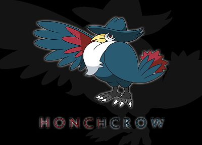 Pokemon, black background, Honchrow - related desktop wallpaper