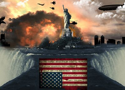 illuminati, New World Order, American Flag - random desktop wallpaper