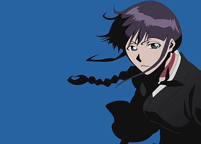 Bleach, Kurotsuchi Nemu, simple background, blue background - random desktop wallpaper