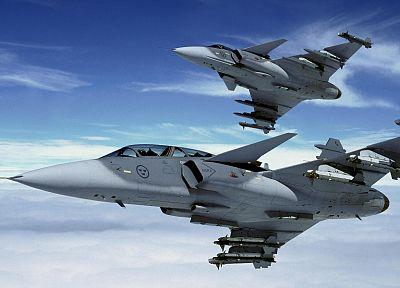 aircraft, Jas 39 Gripen, Swedish Air Force - random desktop wallpaper