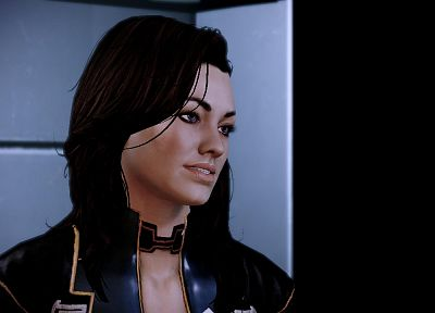 video games, Mass Effect, screenshots, Miranda Lawson, BioWare, Mass Effect 2 - related desktop wallpaper