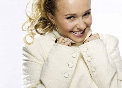 blondes, women, actress, Hayden Panettiere, celebrity, white background - random desktop wallpaper