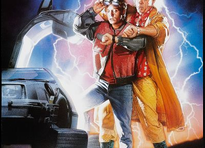Back to the Future, Doc Brown, Marty McFly, DeLorean DMC-12 - related desktop wallpaper