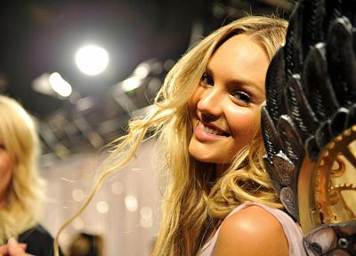 blondes, women, blue eyes, Candice Swanepoel - random desktop wallpaper
