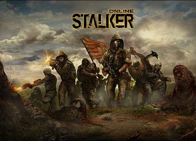 video games, S.T.A.L.K.E.R., military, mutant, artwork - desktop wallpaper