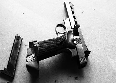 pistols, guns, grayscale, monochrome - related desktop wallpaper