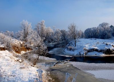 landscapes, nature, winter, snow, trees, white, frozen, Lithuania, ttic24 - random desktop wallpaper