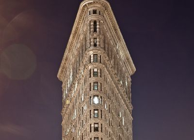 architecture, buildings, New York City, Flatiron Building - desktop wallpaper