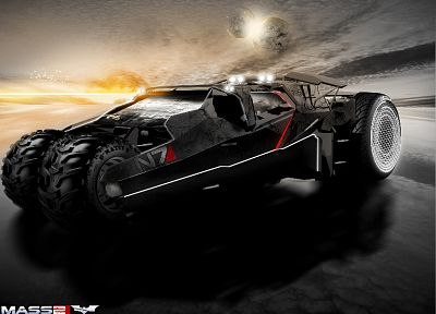 Batman, Mass Effect, Batmobile - random desktop wallpaper