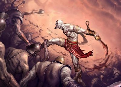 video games, Kratos, God of War, artwork - desktop wallpaper