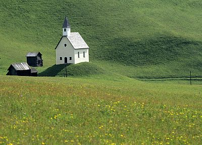 nature, Austria, churches, tyrol - desktop wallpaper