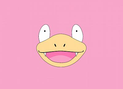 Pokemon, Slowpoke, simple background - desktop wallpaper