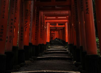 Japan, shrine, pathway, Japanese architecture, Fushimi Inari Shrine - random desktop wallpaper