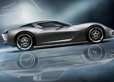 cars, concept art, vehicles, Corvette - desktop wallpaper