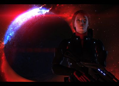 Mass Effect 2, FemShep, Commander Shepard - related desktop wallpaper