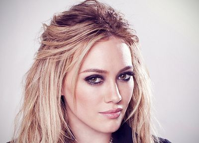 blondes, women, actress, Hilary Duff, celebrity, faces, portraits - random desktop wallpaper