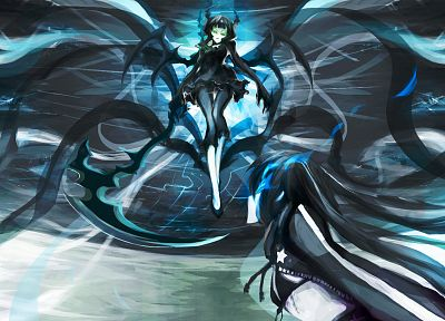 Black Rock Shooter, Dead Master, horns, weapons, anime girls - random desktop wallpaper