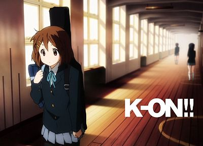 K-ON!, school uniforms, Hirasawa Yui, anime girls - desktop wallpaper