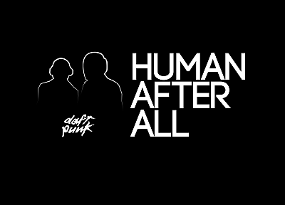 black, music, text, Daft Punk, quotes, silhouettes, human, typography - desktop wallpaper