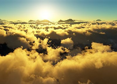 clouds, Sun, skyscapes - desktop wallpaper