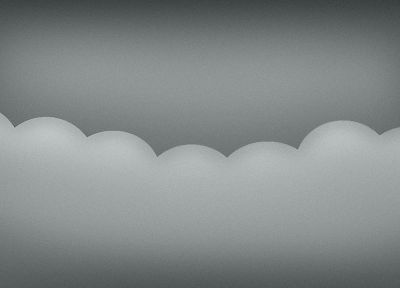 clouds, gray, vectors - random desktop wallpaper