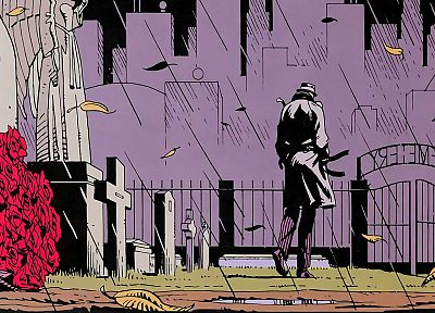 Watchmen, rain, Rorschach, graveyards, roses - related desktop wallpaper