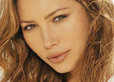 blondes, women, actress, Jessica Biel, faces - random desktop wallpaper
