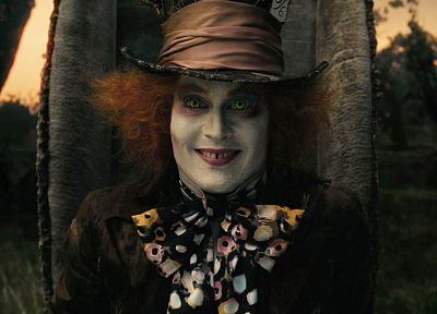 movies, screenshots, Mad Hatter, Johnny Depp - random desktop wallpaper
