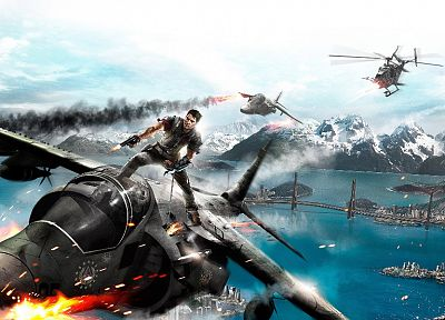 video games, 3D, Just Cause 2, Just Cause II - random desktop wallpaper