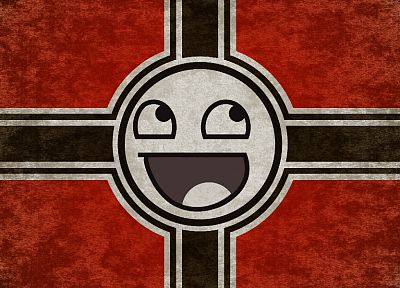 propaganda, Nazi, smiley face, Iron Cross, German - random desktop wallpaper