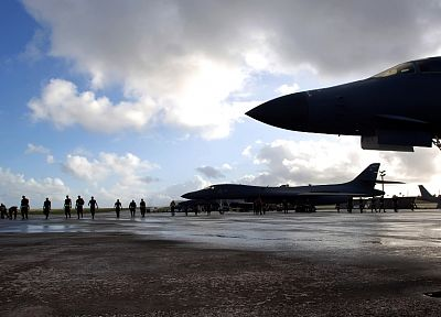 aircraft, military, bomber, B1 Lancer - random desktop wallpaper