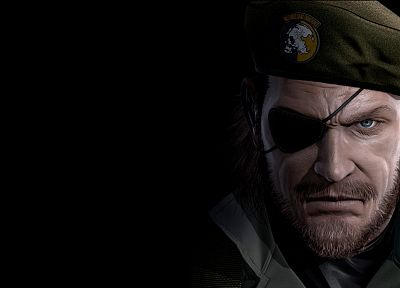 Metal Gear Solid, eyepatch, Peace Walker, beret, Big Boss - related desktop wallpaper