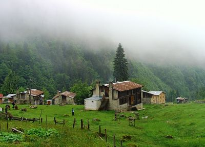 landscapes, nature, forests, Turkey, villages, cities, Rize, Kaçkars - related desktop wallpaper