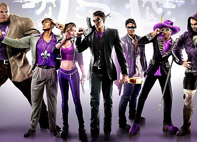 video games, purple, Saints Row: The Third, Shaundi, Gat - random desktop wallpaper