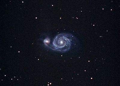 outer space, stars, galaxies, M51 Whirlpool Galaxy - desktop wallpaper