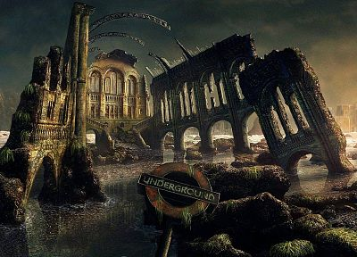 fantasy, ruins, cityscapes, London, artwork - desktop wallpaper