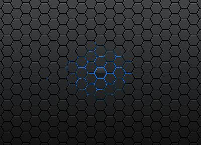 abstract, hexagons - random desktop wallpaper
