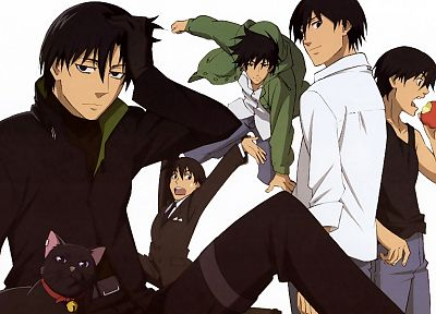 Darker Than Black, Hei, white background - related desktop wallpaper